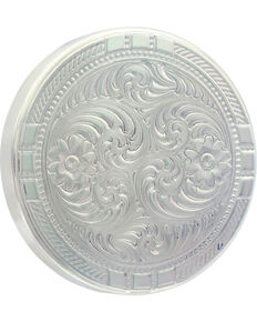 Montana Silversmiths New Traditions Four Directions Snuff Lid, Silver, hi-res