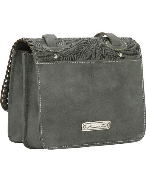American West Turquoise Grand Prairie Crossbody Bag , Turquoise, hi-res