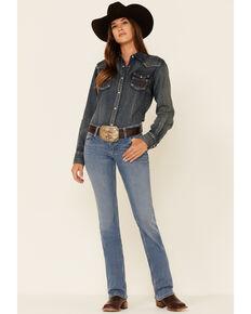 Wrangler Retro Women's Heidi Medium Wash Stretch Bootcut Jeans , Blue, hi-res