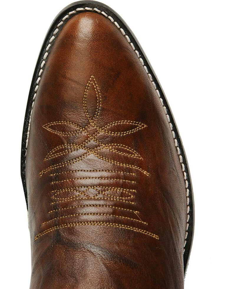 Justin Marbled Deerlite Cowboy Boots - Medium Toe, Chestnut, hi-res
