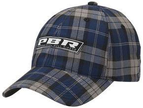 PBR Navy Blue Plaid Logo Casual Cap, Blue, hi-res