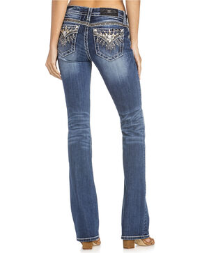 Miss Me Women's Sequin Pocket Boot Cut Jeans, Indigo, hi-res