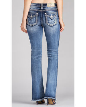 Miss Me Women's Indigo Gold Logo Jeans - Boot Cut, Indigo, hi-res
