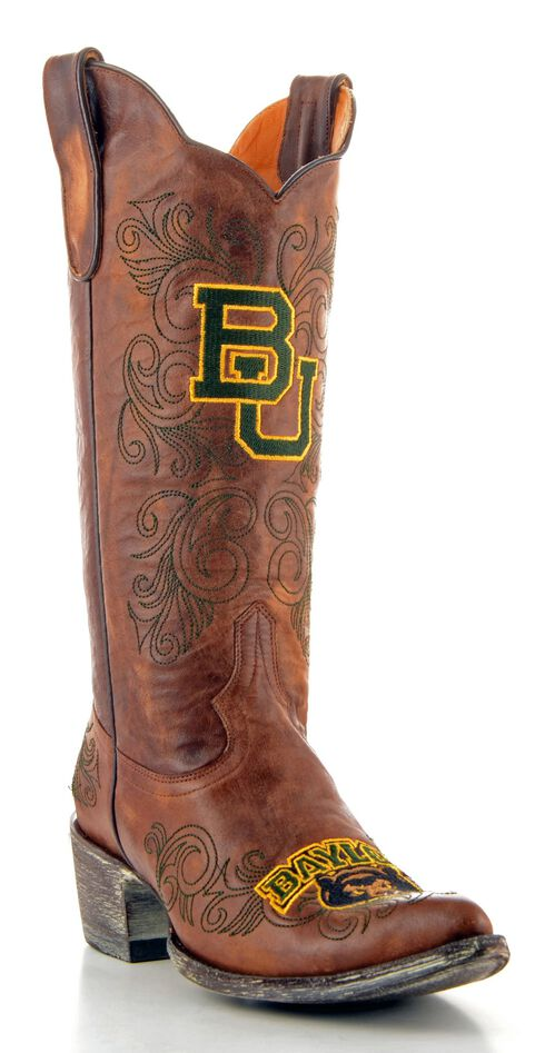 Gameday Baylor University Cowgirl Boots - Pointed Toe, Brass, hi-res