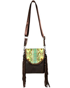 Montana West Women's Ellie Embossed Crossbody Bag, Coffee, hi-res