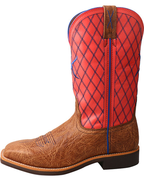 Twisted X Women's Top Hand Cowgirl Boot - Square Toe, Brown, hi-res
