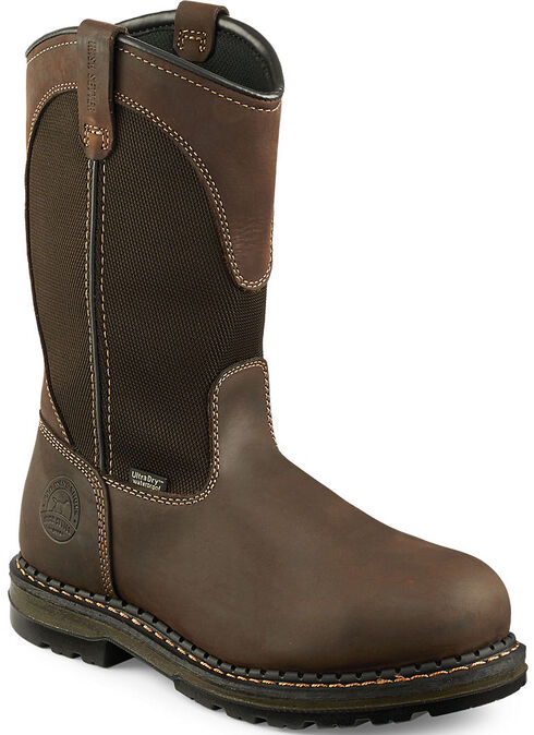 Red Wing Irish Setter Ramsey Work Boots - Soft Round Toe , Brown, hi-res