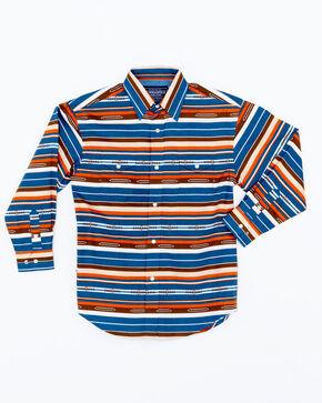 Panhandle Boys' Print Chicon Vintage Aztec Snap Long Sleeve Shirt , Multi, hi-res