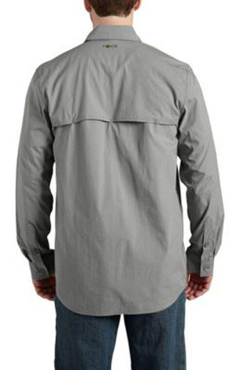 Carhartt Force Mandan Solid Long Sleeve Work Shirt - Big & Tall, Grey, hi-res