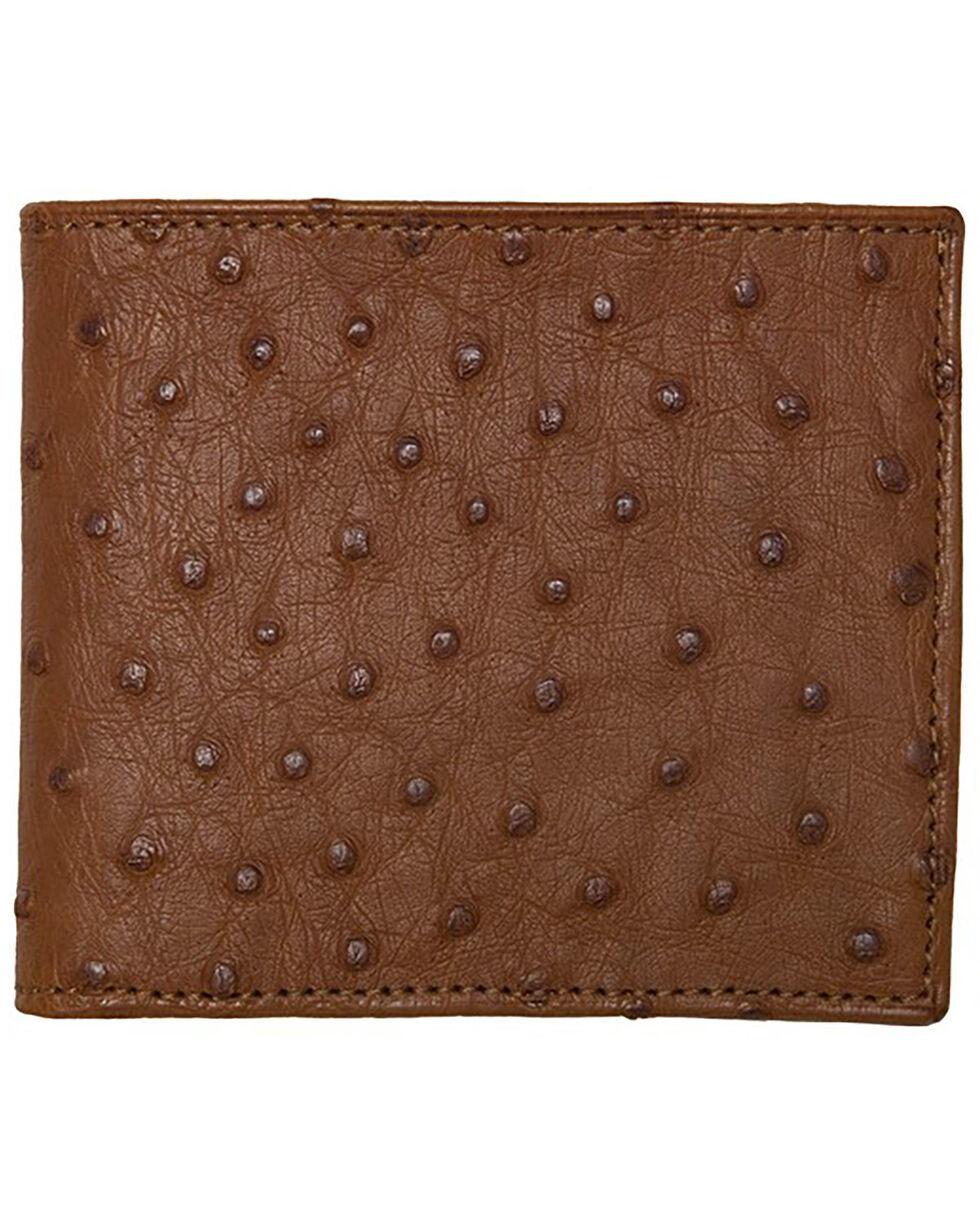 Lucchese Men's Cognac Ostrich Hipster Wallet , Cognac, hi-res