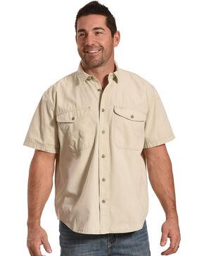 Filson Men's Gray Sky Short Sleeve Field Shirt , Light Grey, hi-res
