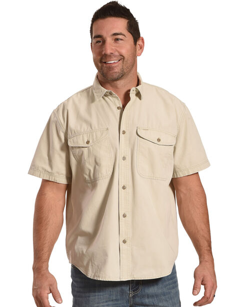 Filson Men's Grey Short Sleeve Field Shirt , Light Grey, hi-res