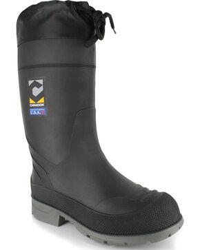 Chinook Men's BadAxe Waterproof Work Boots - Steel Toe , Black, hi-res