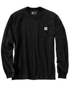 Carhartt Men's Black Antler Back Graphic Heavyweight Long Sleeve Work Pocket T-Shirt , Black, hi-res