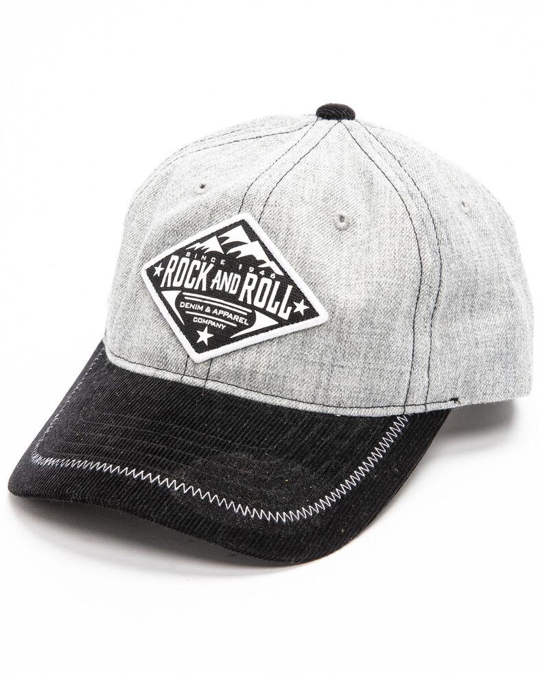 Rock & Roll Cowboy Men's Mountain Logo Patch Cap , Grey, hi-res