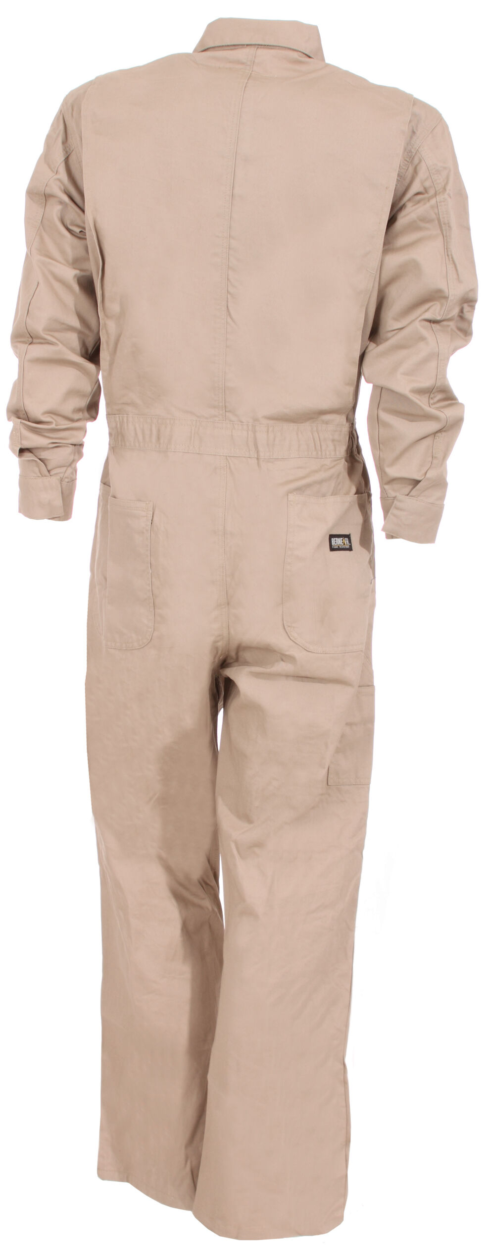 Berne Flame Resistant Deluxe Coveralls - Tall Sizes, Khaki, hi-res