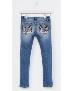 Miss Me Girls' Indigo Butterfly Pocket Jeans - Skinny , Indigo, hi-res