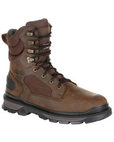Rocky Men's Rams Horn Waterproof Outdoor Boots - Soft Toe, Brown, hi-res