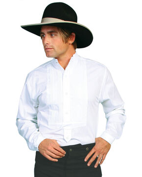 Wahmaker Old West by Scully Gambler Shirt - Big and Tall, White, hi-res