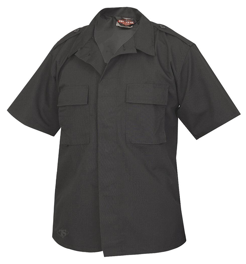 Tru-Spec Men's Black Short Sleeve Tactical Shirt , Black, hi-res