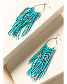 Idyllwind Women's Turquoise and Drop Fringe Earrings, Turquoise, hi-res