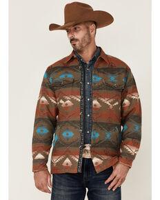 Scully Men's Southwest Print Button-Doiwn Heavy Shirt Jacket, Olive, hi-res