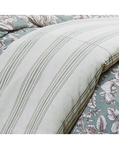 HiEnd Accents Prescott Taupe Stripe Duvet - Super Queen, Multi, hi-res
