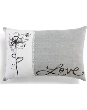Demdaco Love Throw Pillow, Grey, hi-res