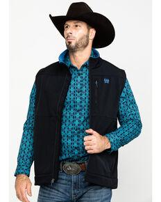 Cinch Men's CC Solid Bonded Vest , Black, hi-res