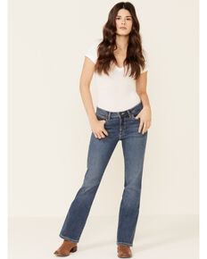 Wrangler Women's Jodie Aura Bootcut Jeans, Blue, hi-res