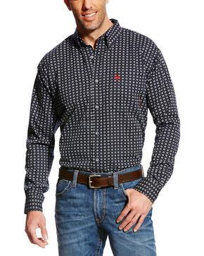 Ariat Men's FR Stark Geo Print Work Shirt - Big & Tall, Multi, hi-res