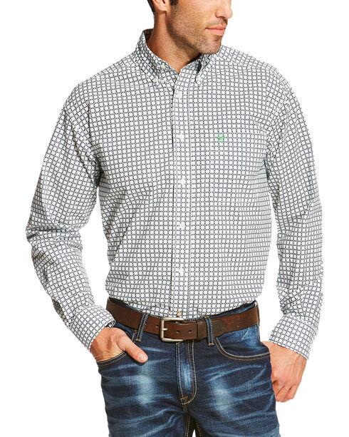 Ariat Men's White Odessa Print Western Long Sleeve Shirt , White, hi-res