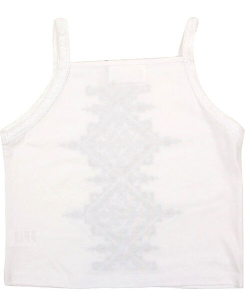 Shyanne Girls' Embroidered Tank Top , White, hi-res