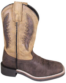 Smoky Mountain Boys' Ranger Western Boots - Square Toe, Brown, hi-res