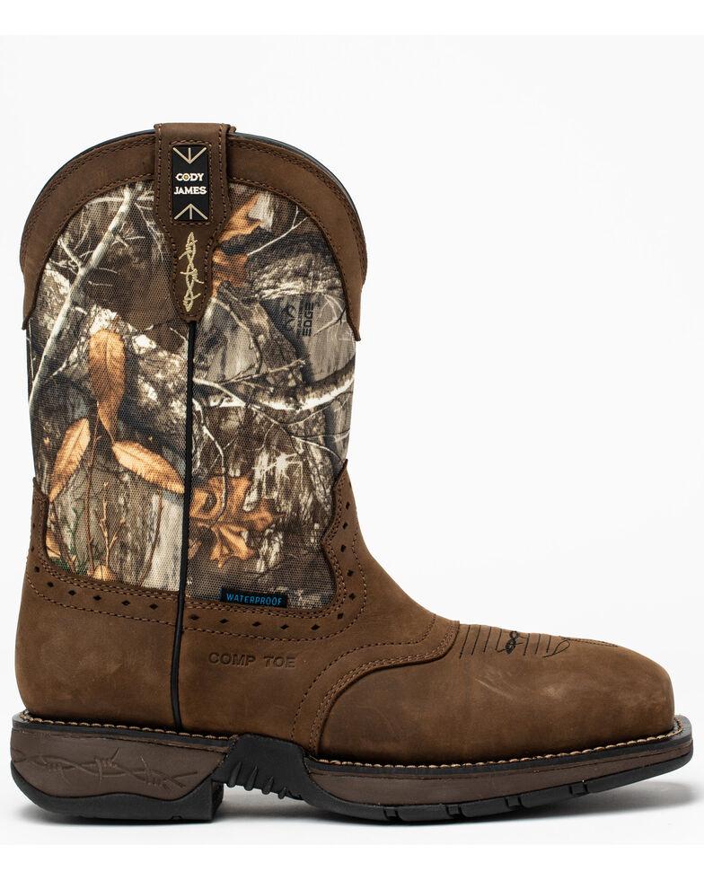 Cody James Men's Xero Gravity Lite Camo Western Work Boots - Nano Composite Toe, Brown, hi-res