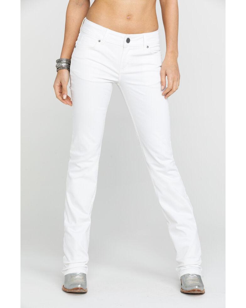 Wrangler Women's White Mid-Rise Straight Everyday Jean, White, hi-res