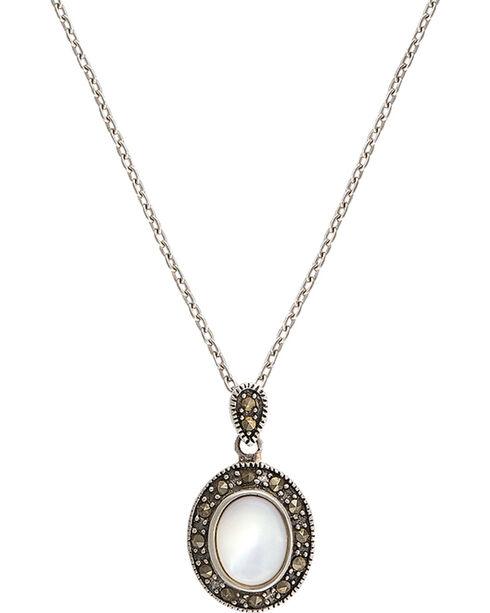 Montana Silversmiths Sparks Will Fly Cowgirl Noir Marcasite Necklace, Antique Silver, hi-res