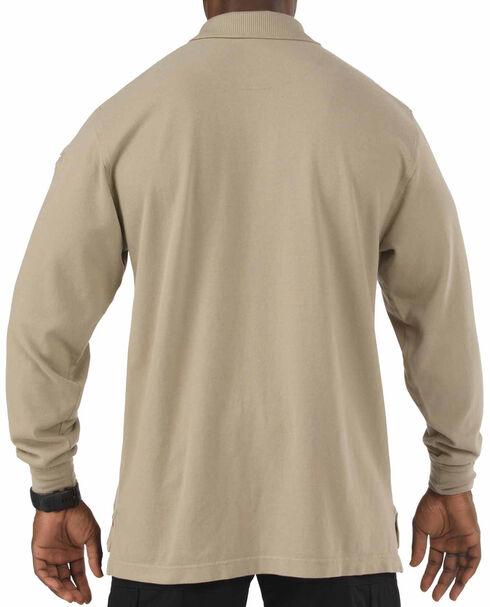 5.11 Tactical Professional Long Sleeve Polo Shirt - Tall Sizes (2XT - 5XT), Tan, hi-res