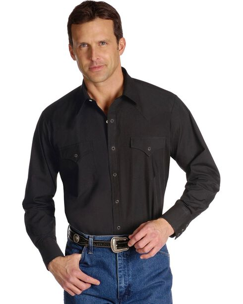 Ely Classic Western Shirt - Tall, Big/Tall - Custom Fit, Neck & Sleeve Sizing, Black, hi-res