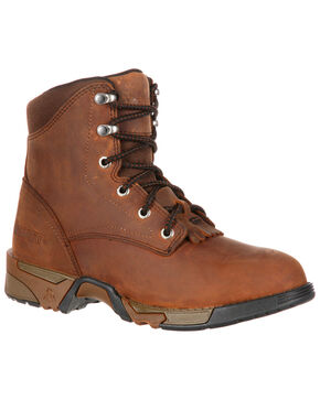 Rocky Women's Aztec Work Boots - Steel Toe, Brown, hi-res