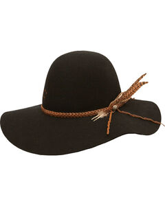 Charlie 1 Horse Wanderlust Springtime Floppy Hat, Black, hi-res