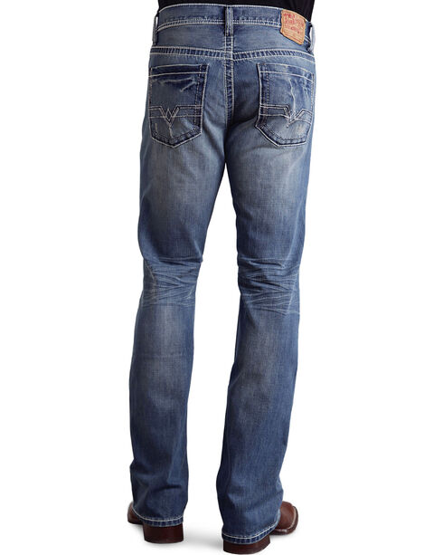 Stetson Rock Fit Frayed X Stitched Jeans - Big & Tall, Light Stone, hi-res