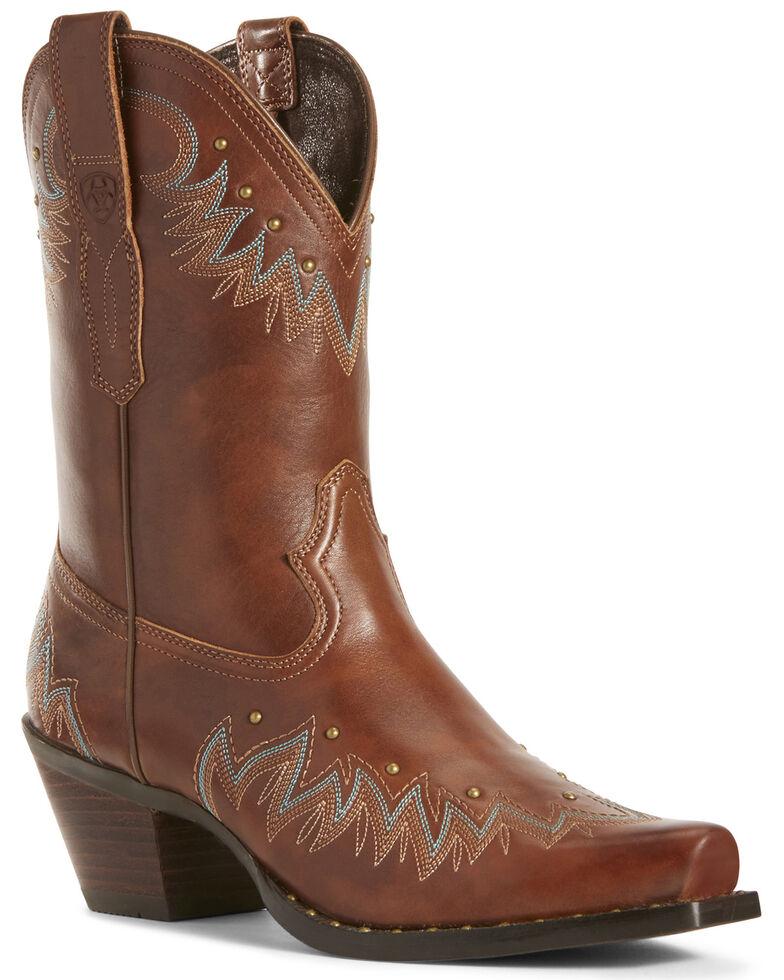 Ariat Women's Potrero Nutmeg Fashion Booties - Snip Toe, Brown, hi-res