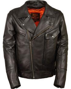Milwaukee Leather Men's Side Set Belt Utility Pocket Motorcycle Jacket - 4X, Black, hi-res