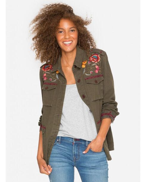 Johnny Was Women's Olive Bonnie Drawstring Military Jacket , Olive, hi-res