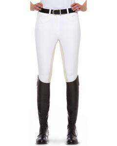 Ariat Olympia Regular Rise Riding Breeches, White, hi-res