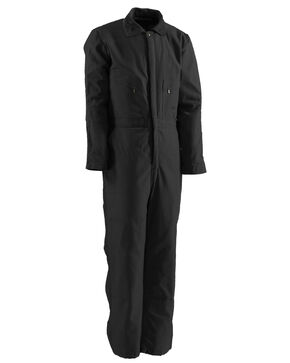 Berne Duck Deluxe Insulated Coveralls, Black, hi-res