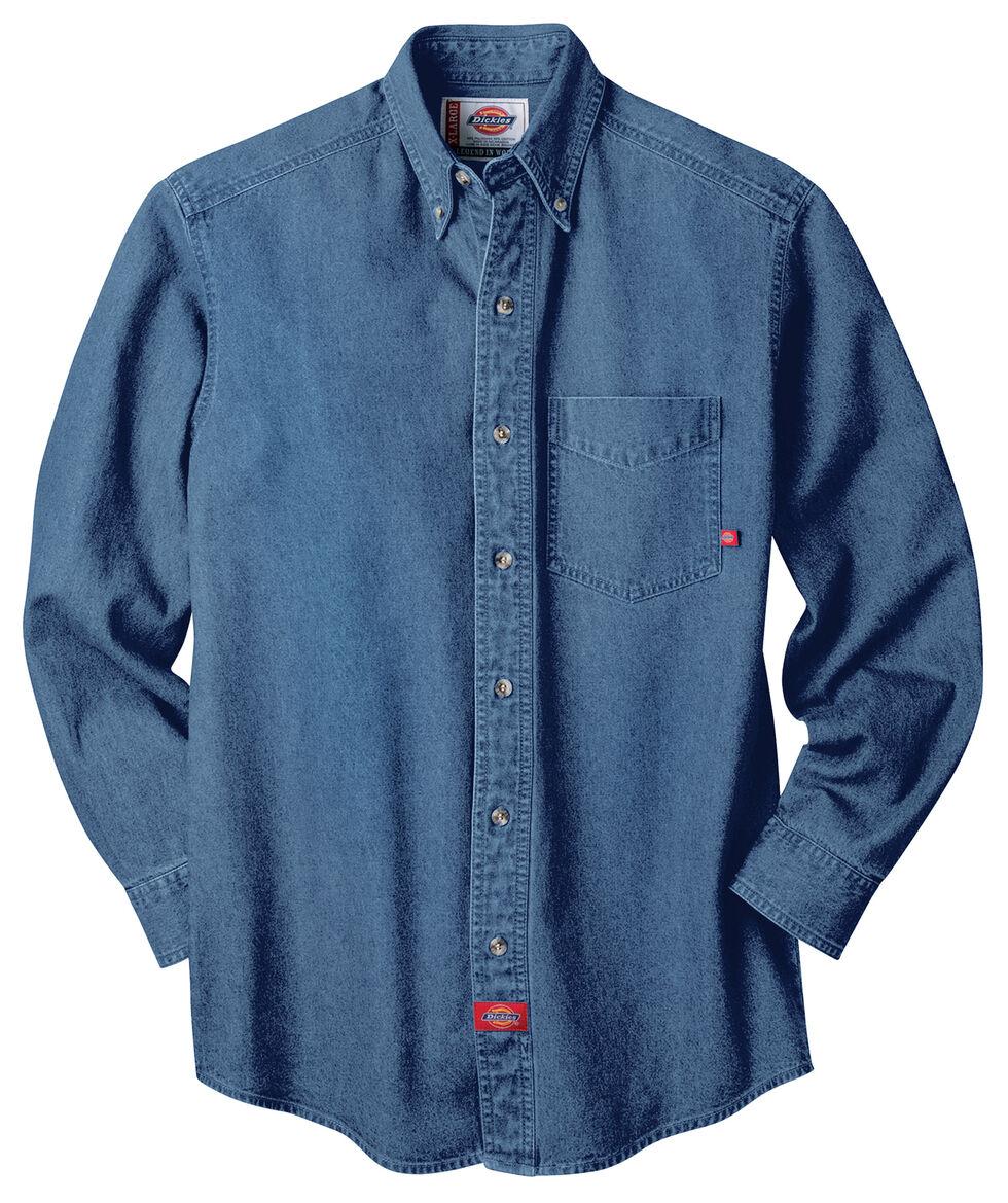 Dickies Stonewash Denim Work Shirt - Big & Tall, Stonewash, hi-res