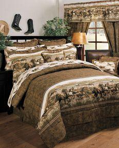 Karin Maki Wild Horses Full Comforter Set, Brown, hi-res