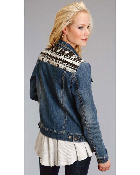 Roper Women's Aztec Yoke Denim Jacket, Indigo, hi-res
